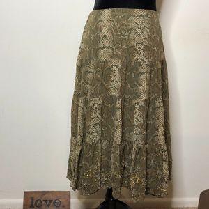 INC~International Concept Snake Print Silk Skirt